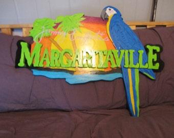 Handmade custom painted Margaritaville sign
