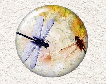 3.5 Inch Large  Pocket Mirror Dragonfly with Black Velour Bag  Buy 3 Get 1 Free  024LM