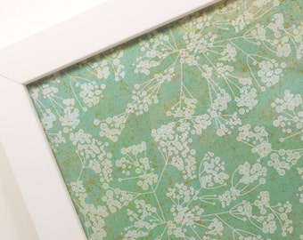 Handcrafted Magnetic Dry-Erase Board-Magnet Board-Framed Bulletin Board-Wall Decor-Makeup Board-Housewares-Sage Floral Design-inclds magnets