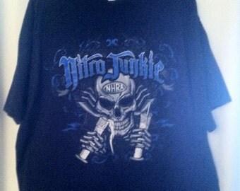 NHRA Nitro Junkie Man's 2  XL  T Shirt UNDER 20
