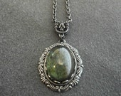 Victorian Cameo Necklace Victorian Jewelry Moss Green Victorian Necklace Downton Abbey Style Nature Woodland Gift for Wife