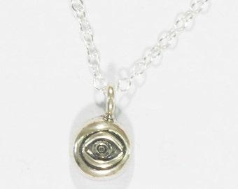 evil eye necklace, evil eye charm, silver necklace, evil eye jewelry, dainty necklace, layering necklace, lucky necklace, silver evil eye