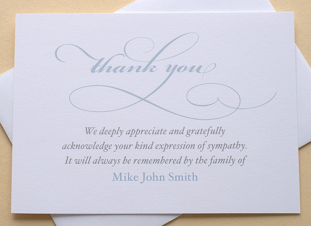 thank you sympathy card personalized set of 36zdesigns0107
