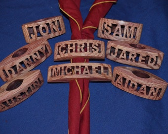 Handmade Cub Scout Neckerchief Slides With Names Solid Wood.