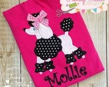 Poodle Applique Design Machine Embroidery Design INSTANT DOWNLOAD