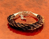 Reserved for Sally, Horsehair bracelet