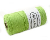 SOLID Green Bakers Twine 240 yard spool - APPLE GREEN twine - string for crafting, gift wrapping, packaging, invitations