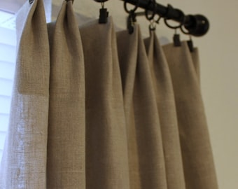 Gorgeous Natural Linen Curtain Drapery Panels
