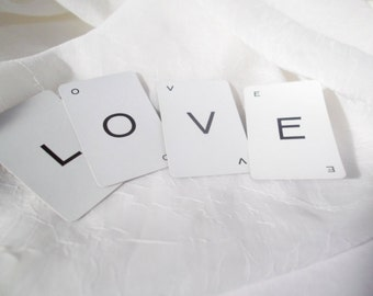 Wedding Decoration Vintage LOVE Cards Letter Cards Country Wedding