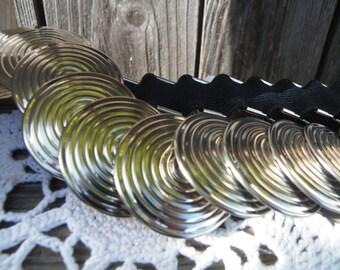 50% off this item, enter LOVE99 at checkout, Silver Circle Stretch Belt, Stretch Belt, Vintage Belt, Belt, Boho Belt, Bohemian, Belt