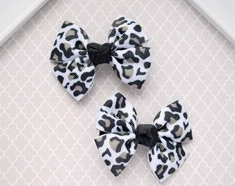 Leopard Hair Bow, Animal Hair Clip, Animal Print Hair Bow, Baby Hair Bow, Toddler Hair Bow, Baby Hair Clip, Little Girl Hair Accessory,