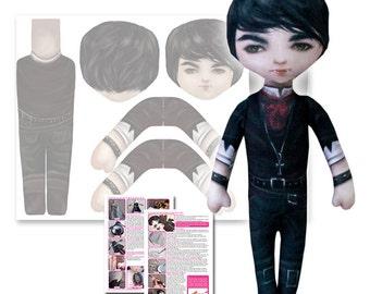 Valentine Vince - Printed Cloth Doll Pattern - DIY Darling