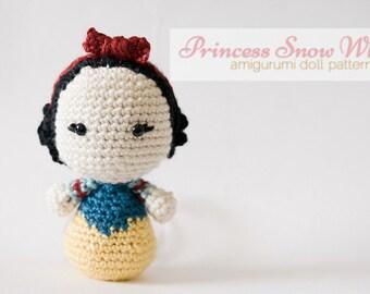Princess Snow White Amigurumi Doll inspired by Disney's Snow White  // Disney Crochet Pattern // Instant Download