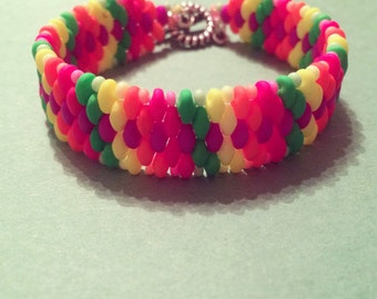 Multicolored Neon Blast Bracelet