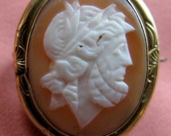 Victorian Cameo Zeus in Gold Mount