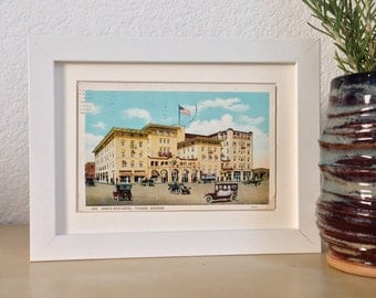 Santa Rita Hotel, Tucson, Arizona - framed vintage postcard