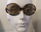 No Pictures Please 1970's Sunglasses Vintage Big Round Sunglasses France Faux Tortoise Shell 70's French Frame Hollywood Starlet Eyeglasses