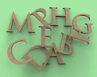 "8"" Custom Letters Unfinished WOOD Premium (MDF)"