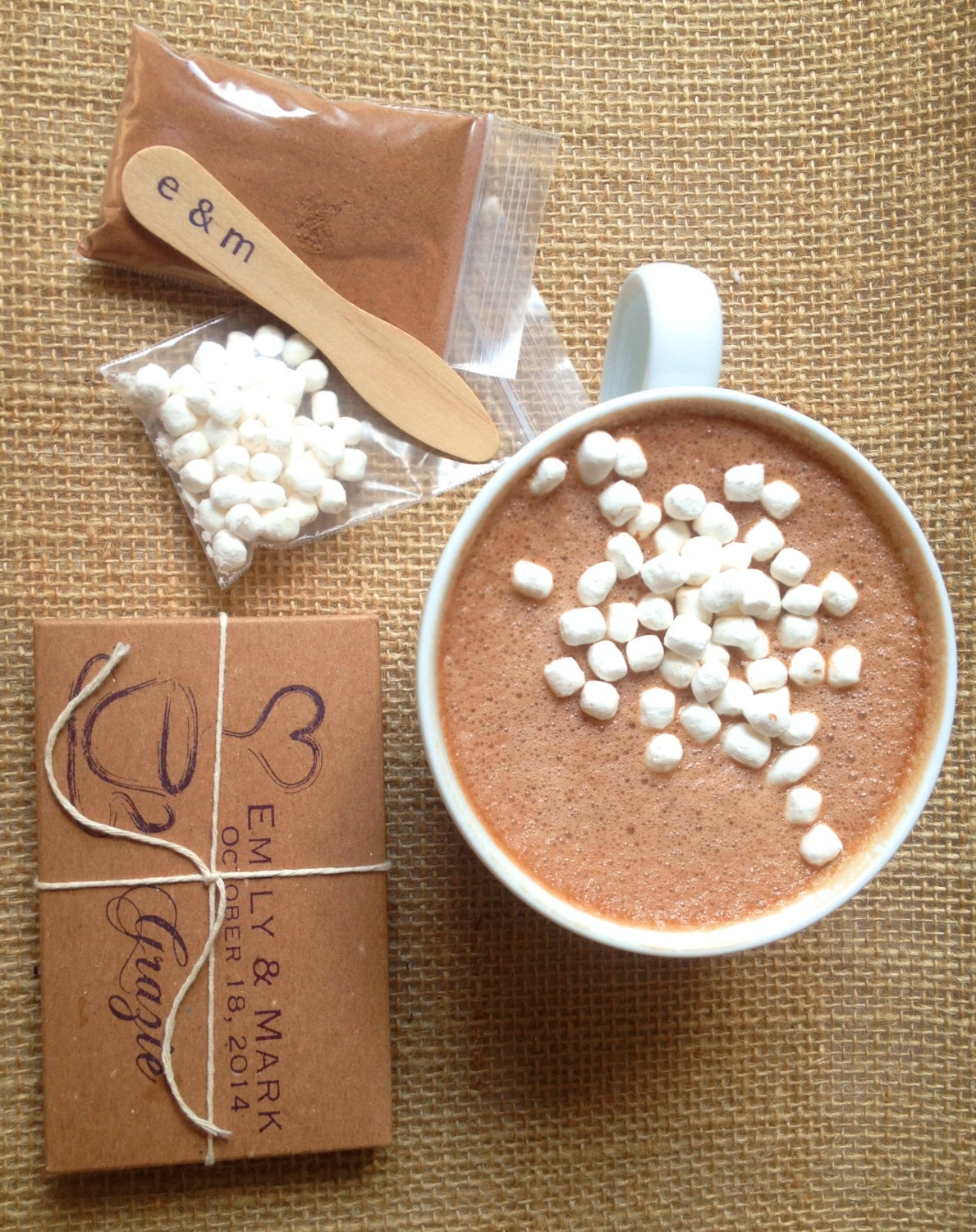 Unique Hot Chocolate Wedding Favors Homemade Hot Cocoa