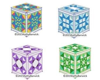 Plastic Canvas EZ PC Tissue Box Cover Pattern Set One Instant Download