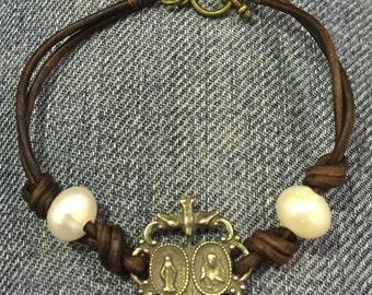 Scapular/Miraculous medal bracelet