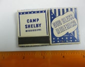 Camp Shelby Mississippi matchbookx,  World war II matches, vintage matches