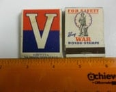 V matches, Buy War Bonds, World war II matches, vintage matches