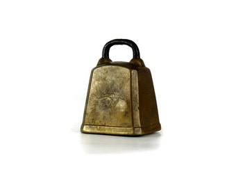 Vintage Brass Sheep Bell, Rustic Primitive Decor