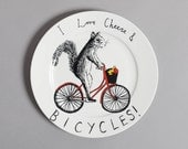 Cheese & Bicycles Side Plate