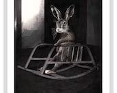 Rocking Rabbit - A4 Print