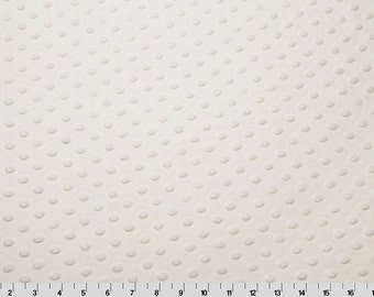 White Cuddle Dimple/ Dot Minky (Minkee), Cuddle Dimple by Shannon Fabrics