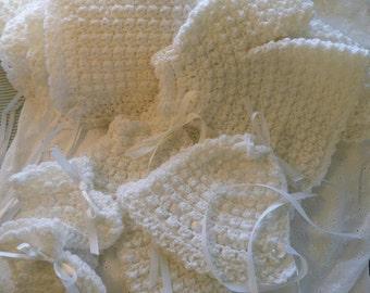 White Infant Layette Set