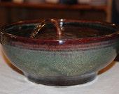 "Cat Fountain / Tabletop Fountain,  Food safe Ceramics - 9.75 Inch Diameter -""Mahogany Serene"""