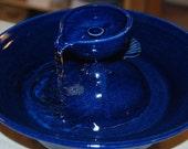 "Ceramic Cat Drinking Fountain/Pet Fountain, Foodsafe -  ""April Turretel"" - 12.25 Inch Diameter"
