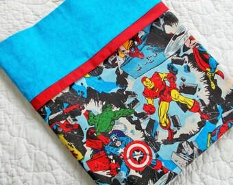 Marvel Comic Super Hero Full Size  Pillow Case
