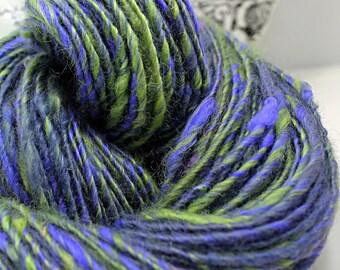 SALE Handspun Textured Yarn Alpaca and Romney 'Witch's Brew'