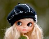 Hat OOAK Blythe Hat Newsboy Beret Hat Fantasy  Hat Blythe Hat Blythe Outfit yarn