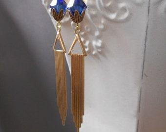 Miss Fisher Earrings - Art Deco Jewelry - 1920s Flapper Earrings - Downton Abbey Earrings - Great Gatsby Wedding Jewelry