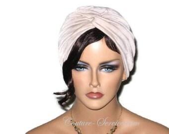 Tan Turban, Tan Twist Turban, Tan Fashion Turban, Women's Tan Turban, Khaki Turban, Natural Turban, Crinkled Rayon, Natural Turban, Turbin