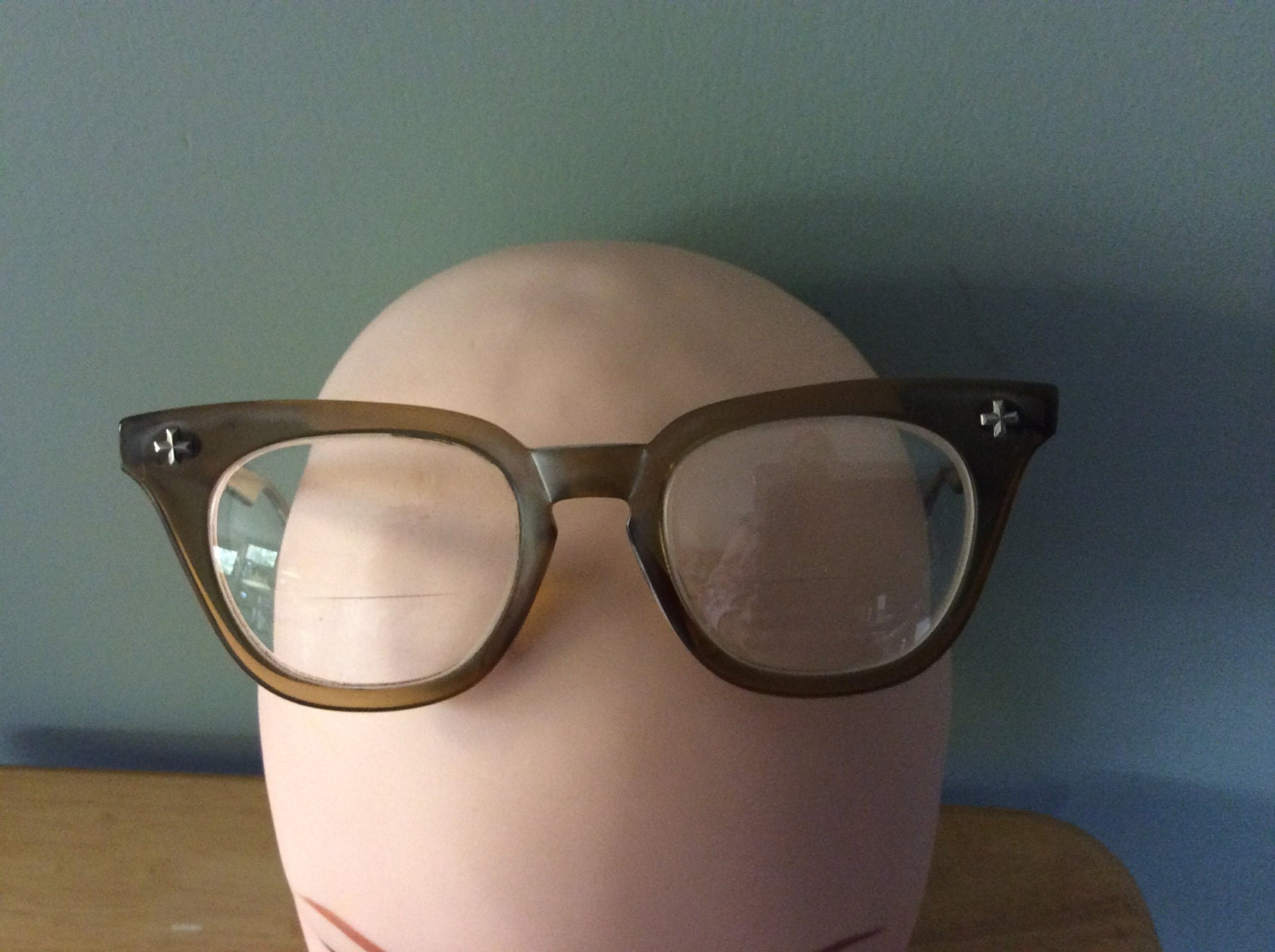 2 pair antique eyeglasses