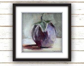 Baby Eggplant - Art Print - Large Wall Art