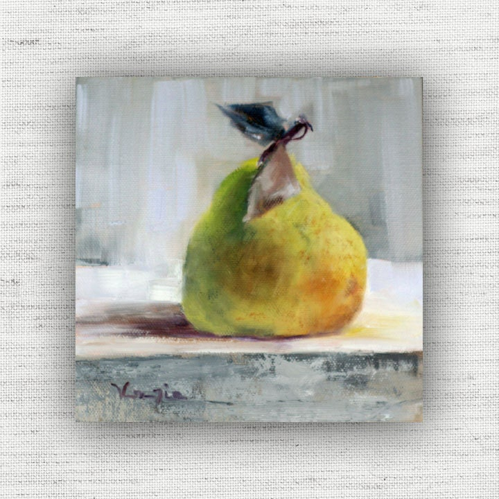Pear painting print of still life oil painting home decor wall Pear home decor