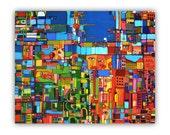 Original Acrylic Painting Abstract Art 30x24
