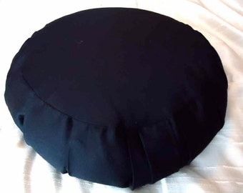 Meditation cushion, Larger in size, black cotton twill with side handle.