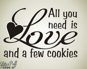 All You need is Love -  Love is all you need Cookie rubber stamp - Custom Wedding Stamp - Candy Cookie Treat Bag -   (G3086 Stock)
