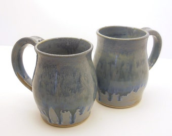BOGO Half OFF - Coffee Mug Set of 2 - Hand Thrown - His and Hers Gift Set - Made to Order