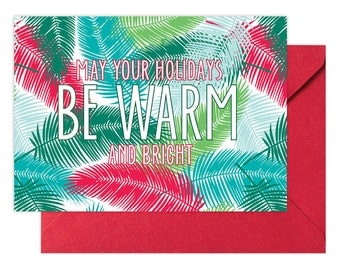 HOLIDAY SALE!!! Be Warm Christmas Greeting Card, Single Card, Christmas or Holiday Greeting Card by Abigail Christine Design