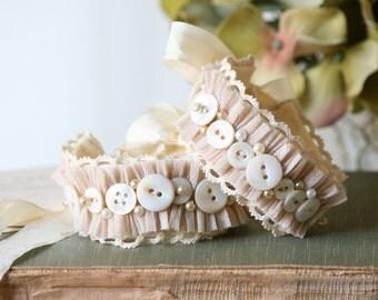 Button Cuff Bracelet, Fabric Cuff, Bridesmaid Wrist Corsage, Flower Girl Jewelry, Prom Corsage, Pearl Bracelet, Bride, Wedding Wrist Corage