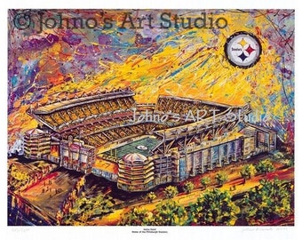 Sports Art, Heinz Field , Pittsburgh Steelers Football Print by Johno Prascak