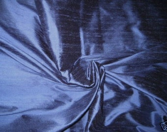 "Periwinkle Blue 100% dupioni silk fabric yardage By the Yard 45"" wide"